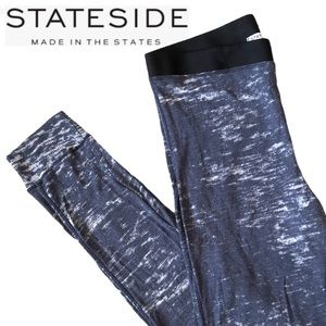 STATESIDE Navy/White Slim-Fit Joggers - Size Small